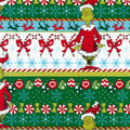 Christmas The Grinch Cotton Fabric-Stripes