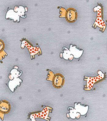 "Nursery Cotton Fabric 43""-Safari Tossed Animals"