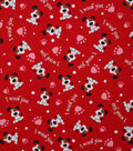 Holiday Inspirations Valentine\u0027s Day Utility Fabric -Woof