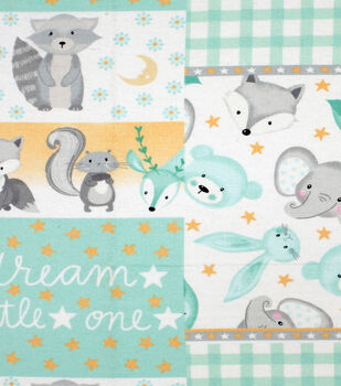 Nursery Flannel Fabric-Sleepy Patchwork