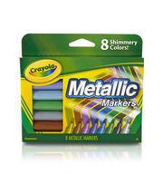 Crayola Metallic Markers 8/Pkg-, , hi-res