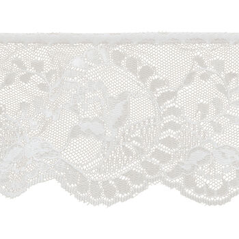 Wh Flower Cameo Lace