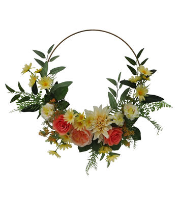 Fresh Picked Spring 18'' Floral Wreath