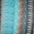 Fast Fashion Yoryu Chiffon Fabric-Teal & Brown Aztec