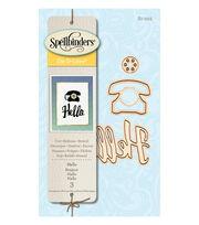 Spellbinders 3 Pack Etched Die D-Lites-Hello, , hi-res