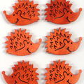 Favorite Findings 6 pk Hedgehog Buttons