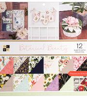 DCWV 36 pk 12''x12'' Premium Printed Cardstock Stack-Botanical Beauty, , hi-res