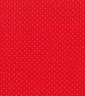 Christmas Cotton Fabric 43\u0022-Silver Dots