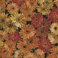 Harvest Cotton Fabric-Metallic Harvest Mums