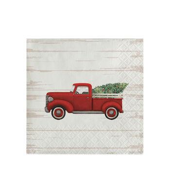 Maker's Holiday 20 pk 5'' 2-ply Beverage Napkins-Christmas Truck