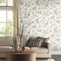 York Wallcoverings Wallpaper-Neutral Watercolor Floral