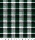 Quilter\u0027s Flannel Fabric-Hunter Green Preppy Plaid
