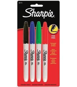Sanford Sharpie Fine Point Color Set 4Pk-Red, Blue, Black, Green