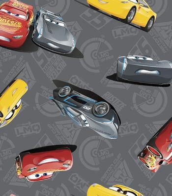 Disney Cars 3 Cotton Fabric 43''-McQueen & Storm
