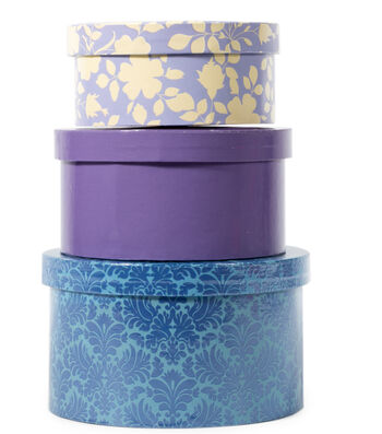 DCWV Circle Nested Box Set: Purple and Blue