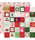 Merry & Bright Foiled Double-Sided Cardstock 12X12-2X2 Journaling Cards