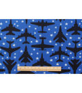 Blizzard Fleece Fabric -Airplanes In The Stars