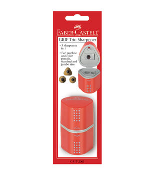 GRIP Trio Pencil Sharpener-Red