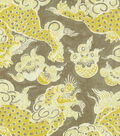 P/K Lifestyles Lightweight Decor Fabric 54\u0022-Dunmore Dragons/Sepia