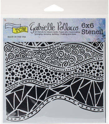 Crafter's Workshop Gabrielle Pollacco Template 6''x6''-Crazy Waves