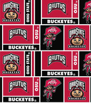 "Ohio State University Buckeyes Cotton Fabric 43""-Herringbone, , hi-res"