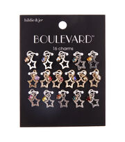 hildie & jo Boulevard 16 pk Zinc Alloy, Iron & Acrylic Shine Star Charms, , hi-res