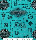Fantastic Beasts Flannel Fabric -Logo