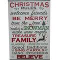 Handmade Holiday Wall Decor-Christmas Rules