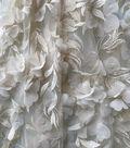 Save The Date Mesh Fabric 57\u0022-Eggnog Floral