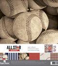 Paper House Paper Crafting Kit 12\u0022X12\u0022-Baseball