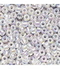 Glass Seed Beads-Transparent Crystal AB, 10/0, 20 grams