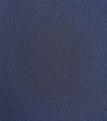 Knit Solids Stretch Crepe Fabric-Eclipse