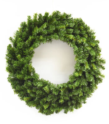 Blooming Holiday Christmas 30'' PVC Pine Wreath