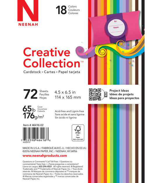 "Creative Collection Cardstock Starter Pack 4.5""X6.5"" 18 Bold, , hi-res, image 2"