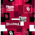 University of Oklahoma Sooners Cotton Fabric -Modern Block