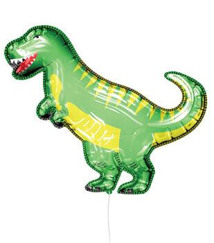 Dinosaur Mylar Balloon with Ribbon