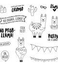 Simple Stories Carpe Diem 16 pk Photopolymer Clear Stamps-No Prob-Llama