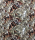 Knit Prints Rayon Spandex Fabric-Ivory Blurred Animal