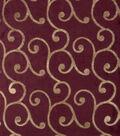 Home Decor 8\u0022x8\u0022 Fabric Swatch-Print Fabric Eaton Square Arrange Merlot
