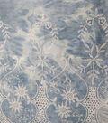 Sportswear Denim Fabric 52\u0022-Blue Tie Dye Scallop Embroidered