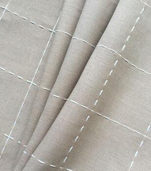 Linen & Linen Look Fabric -Check