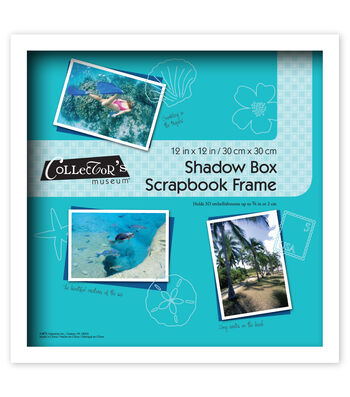 MCS Industries Collector's Museum Shadow Box Scrapbook Frame 12''x12''