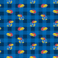 University of Kansas Jayhawks Fleece Fabric-Buffalo Plaid