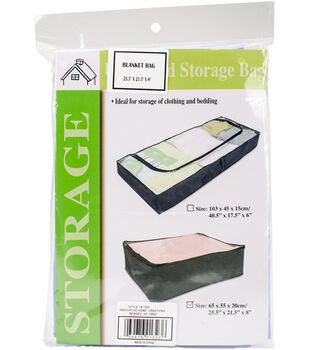 Innovative Home Creations Blanket Storage Bag-Clear