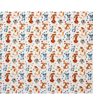 Super Snuggle Flannel Fabric-Chubby Pup