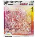 Carabelle Studio Art Printing Rubber Texture Plate-Of Threads & Flowers