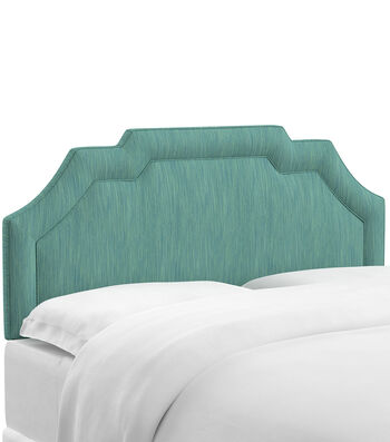 Skyline Furniture Notched Border Headboard-Queen