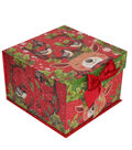 Maker\u0027s Holiday Christmas Medium Mini Fliptop Storage Box-Reindeer