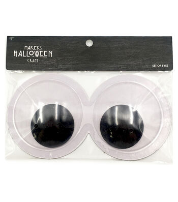 Maker's Halloween Googly Eyes-White Conjoined Medium