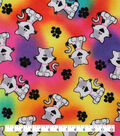 Novelty Cotton Fabric-Tossed Cat Tie Dye